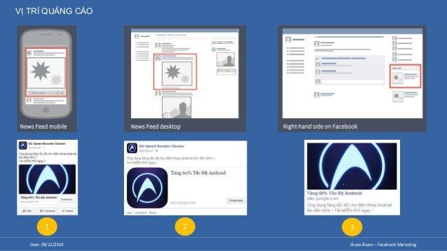 Vị trí quảng cáo của Facebook Ads